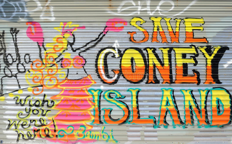 Coney-Insel-Graffiti stockfoto
