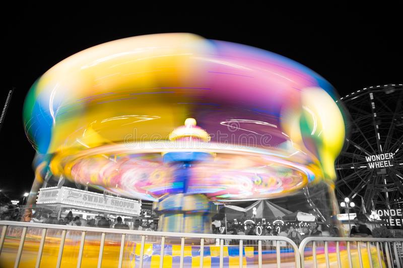 Coney Island Amusement Park Ride royalty free stock photos