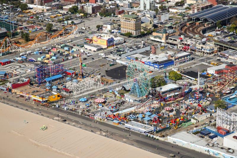 Coney Island antena zdjęcie royalty free
