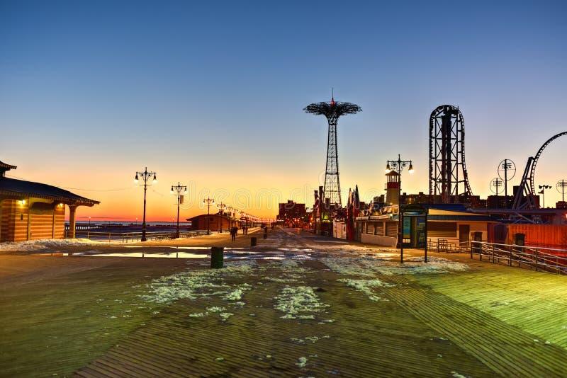 Coney Island Boardwalk - Brooklyn, Nowy Jork zdjęcie royalty free