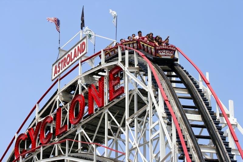 Coney Island Cyclone stock image