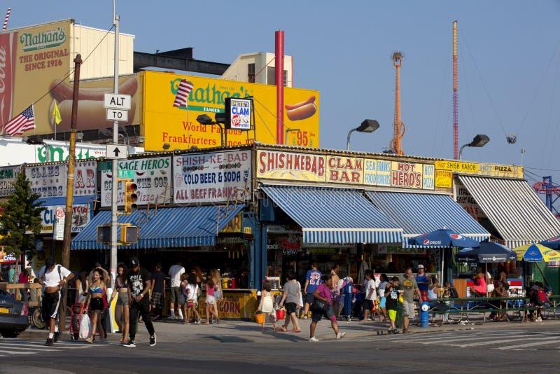 Coney Island - de Nieuwe Stad van York stock foto