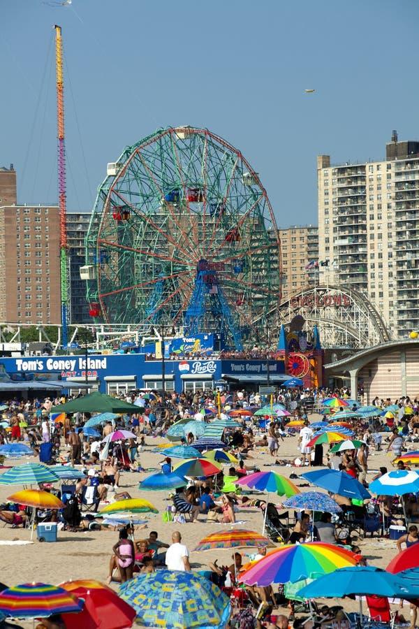 Coney Island - de Stad van New York stock foto's