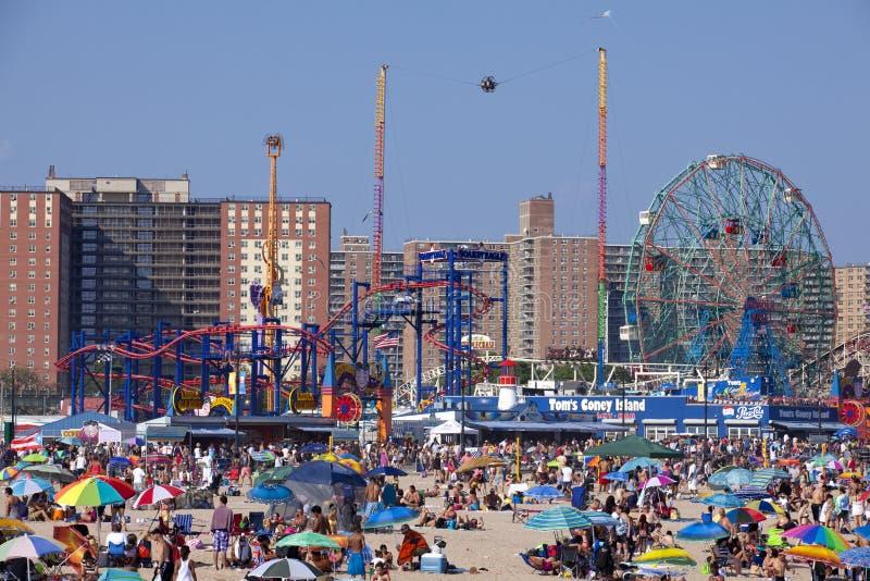 Coney Island - de Stad van New York stock afbeelding