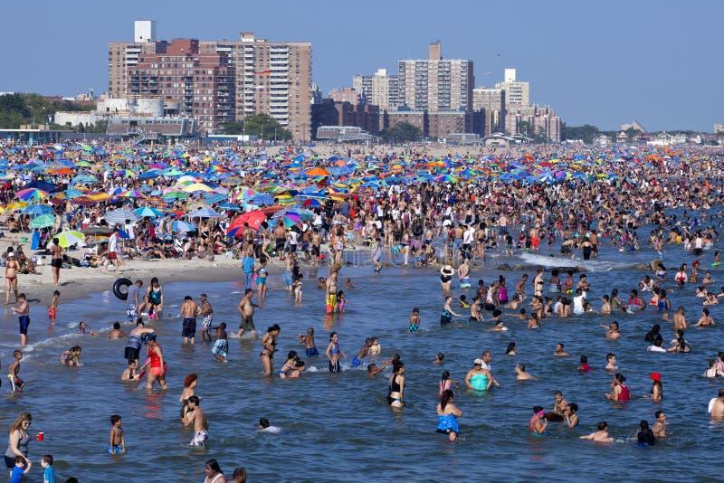 Coney Island - de Stad van New York stock foto