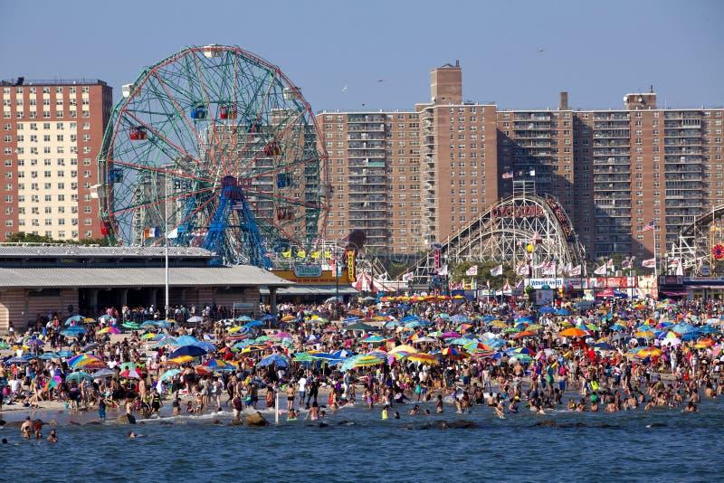 Coney Island - de Stad van New York stock fotografie