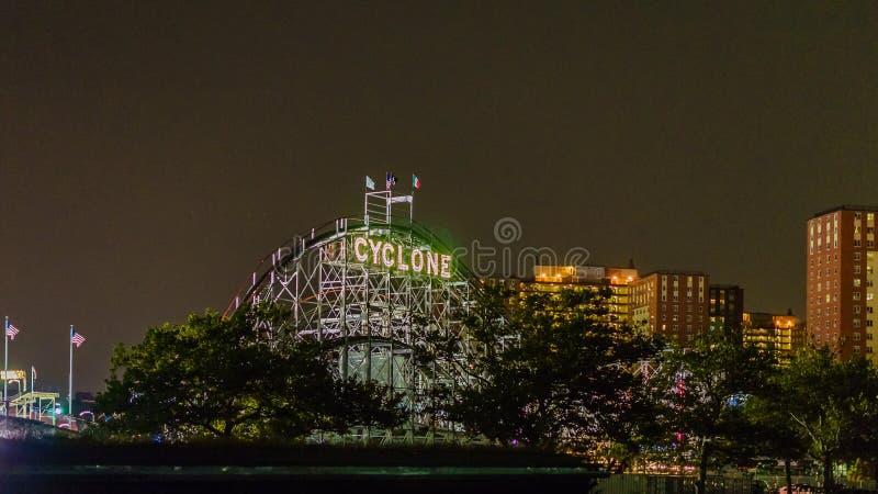 Coney Island Luna Park la nuit Brooklyn New York photo libre de droits