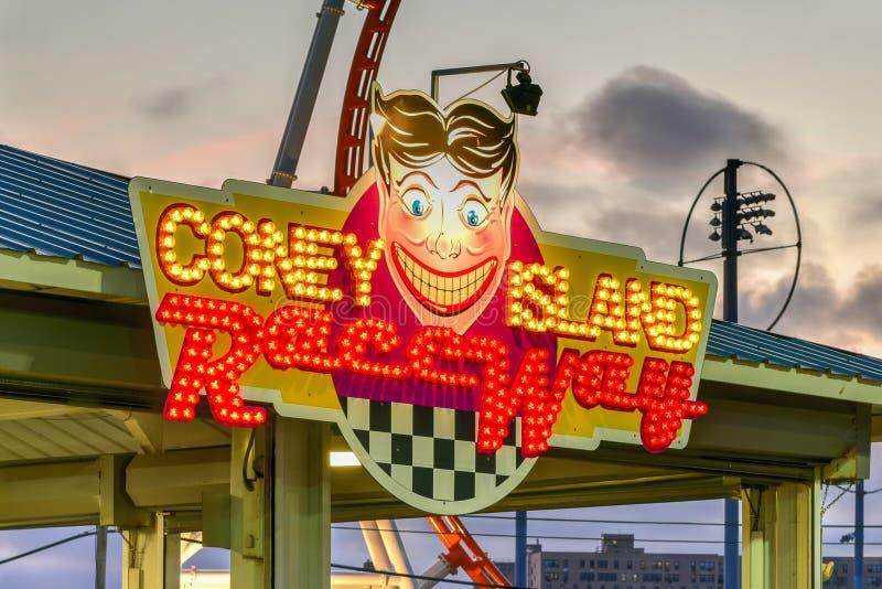 Coney Island młynówka obrazy royalty free