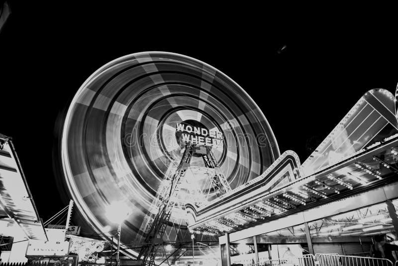 Coney Island parka rozrywki przejażdżka obraz stock