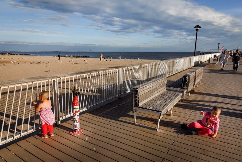 Coney Island plaża w Miasto Nowy Jork obrazy royalty free