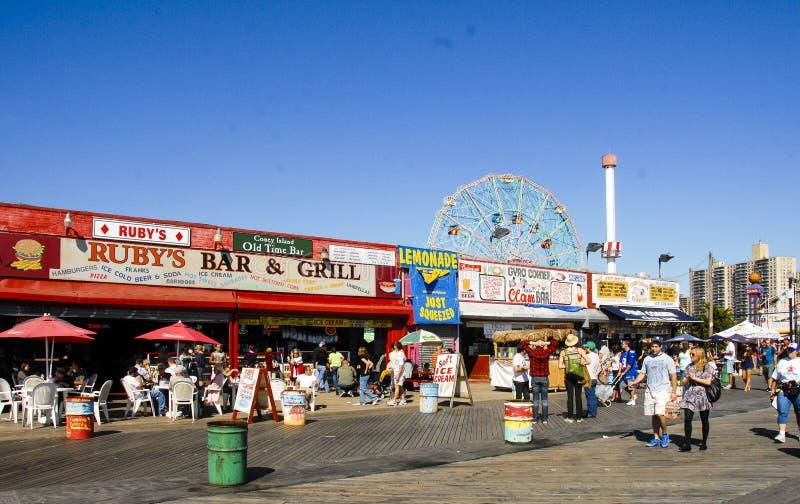 Coney Island-Promenade Brooklyn, NY royalty-vrije stock foto