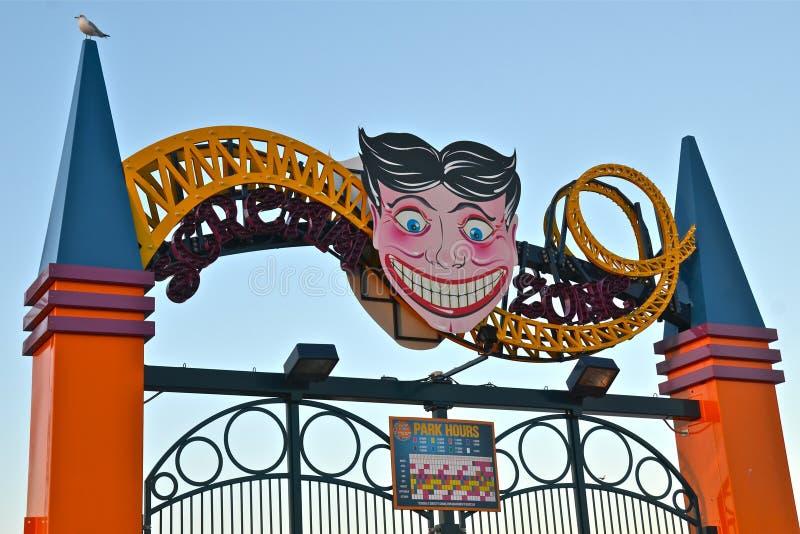 Coney Island wejścia znak, Miasto Nowy Jork obrazy royalty free