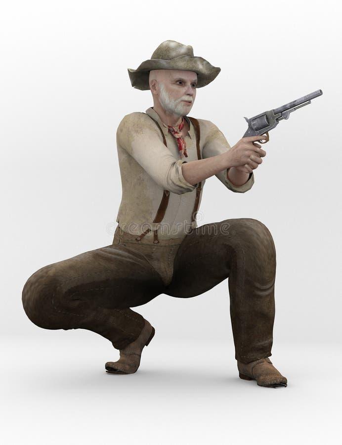 Confédéré avec l'arme à feu illustration de vecteur