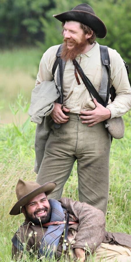 Confédérés riants photos stock