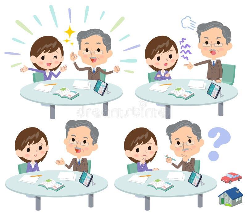 Conférence business_1 de réunion illustration de vecteur