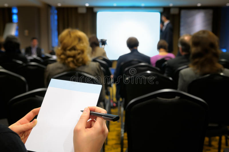 Conférence d'affaires. image stock