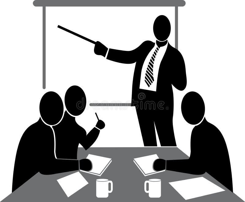 Conférence d'affaires illustration de vecteur