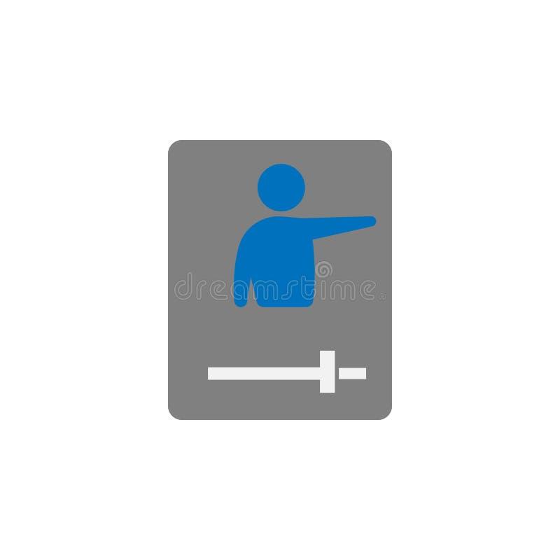 Conférence et icône d'instruction visuelle Élément d'icône d'éducation pour les apps mobiles de concept et de Web Conférence déta illustration de vecteur