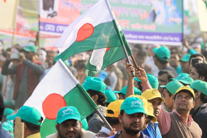 Conférence nationale de ligue du Bangladesh Awami photographie stock libre de droits