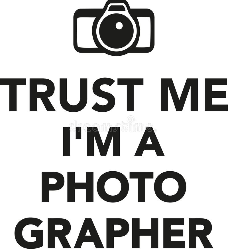 Confíeme en el ` m de I un fotógrafo libre illustration