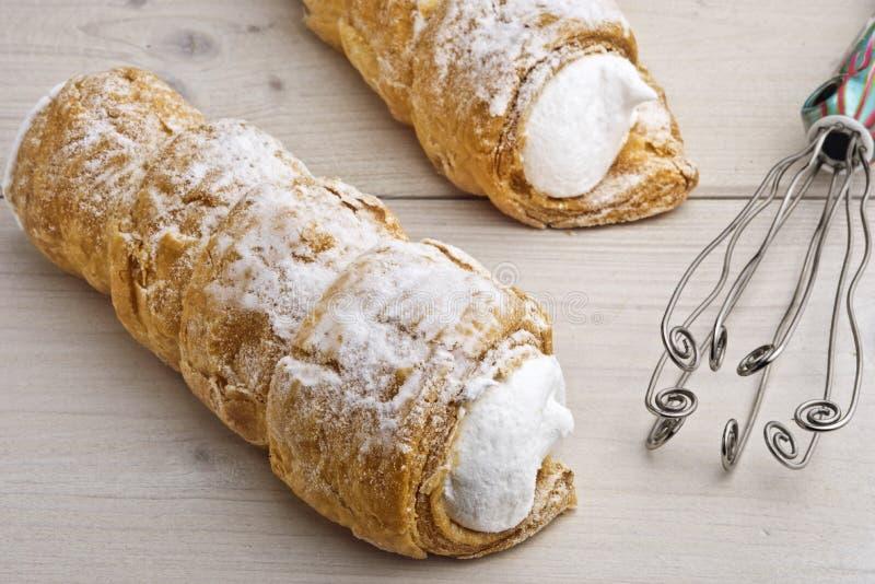 Confection Cream †рожка «австрийским, чехословакским и немецким Schau известное стоковое фото rf