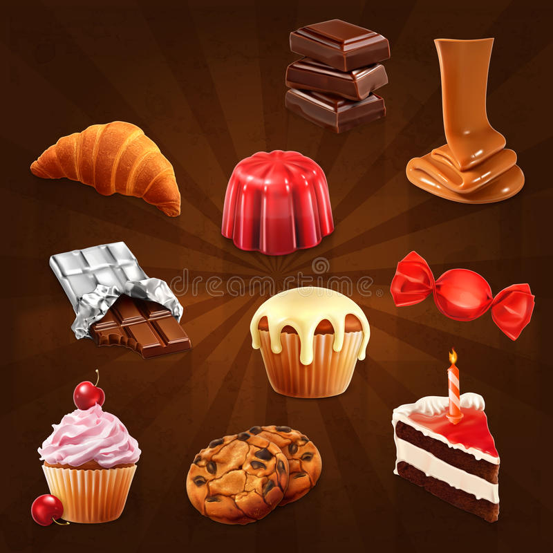 Free Confectionery Vector Icons Stock Photo - 61148200