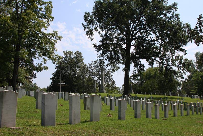 Confederado del cementerio de la madera de roble muerto de Gettysburg fotos de archivo libres de regalías