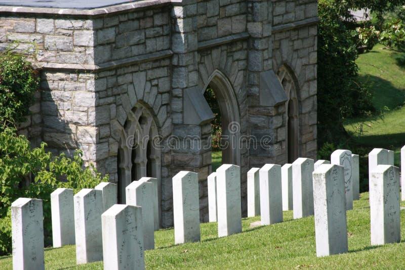 Confederado do cemitério da madeira de carvalho inoperante de Gettysburg foto de stock