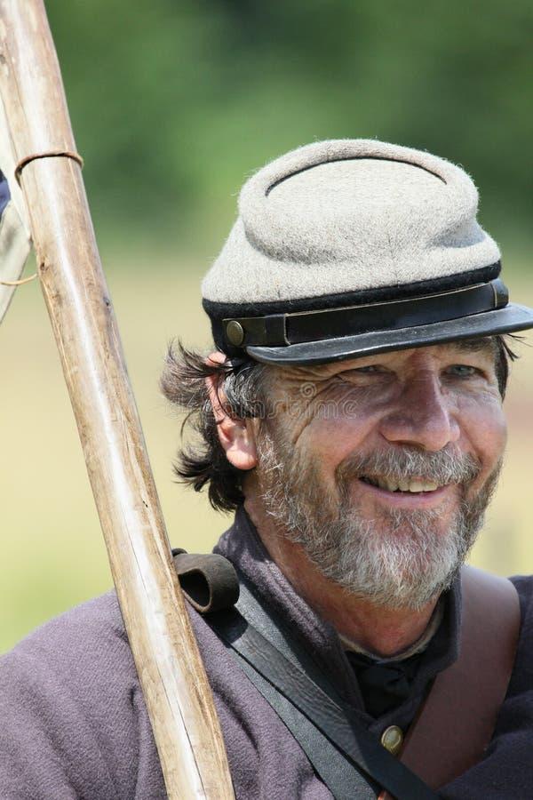 Confederado sonriente imagen de archivo