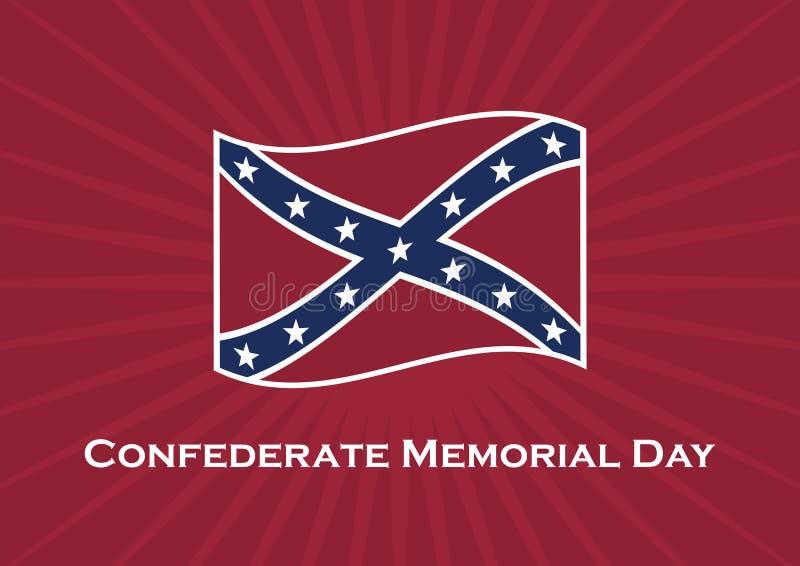Confederate вектор Дня памяти погибших в войнах иллюстрация вектора