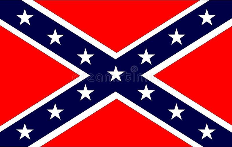 confederate флаг иллюстрация штока