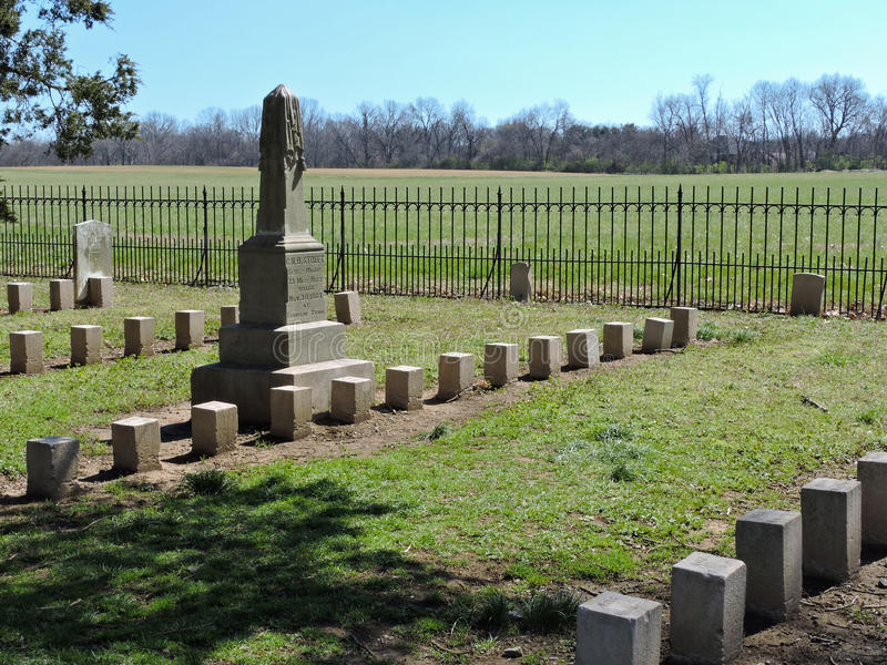 Confederate Battleground Cemetery royalty free stock photography