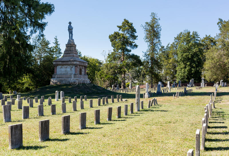Confederate cemetery in Fredericksburg VA royalty free stock photo