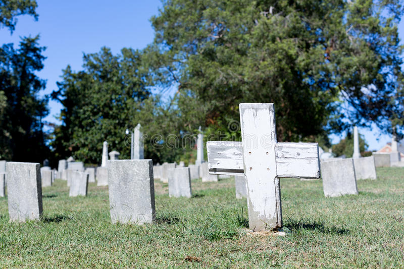 Confederate cemetery in Fredericksburg VA stock photography