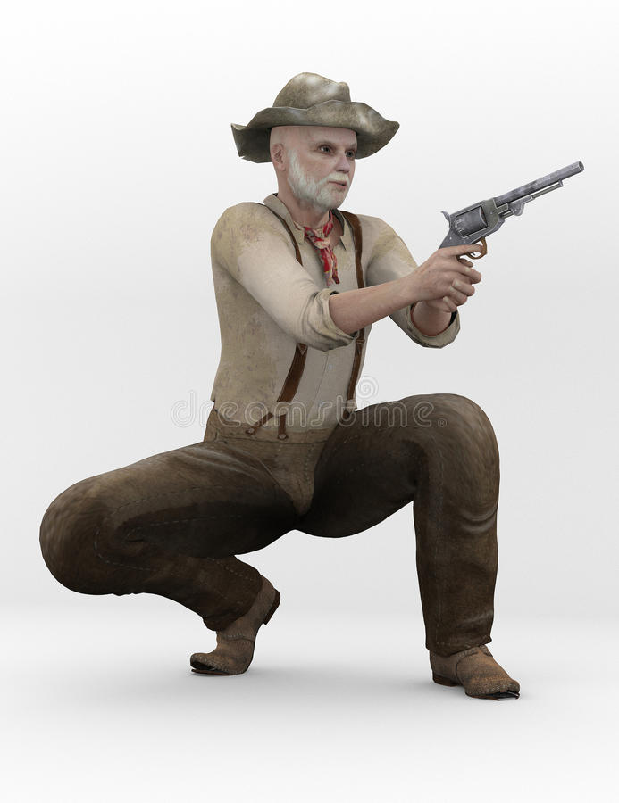 Confederate with gun stock photography