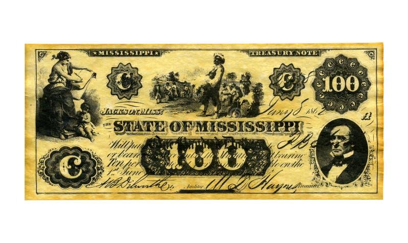 Confederate Money royalty free stock image