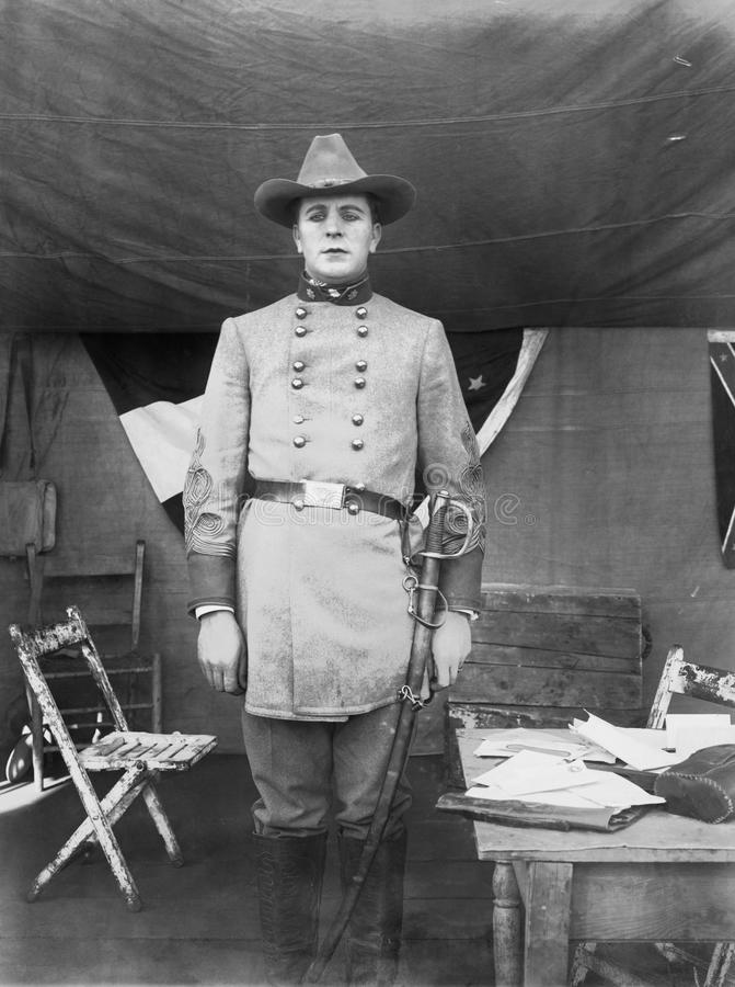 CONFEDERATE OFFICER. (All persons depicted are no longer living and no estate exists. Supplier grants that there will be no model release issues stock photo