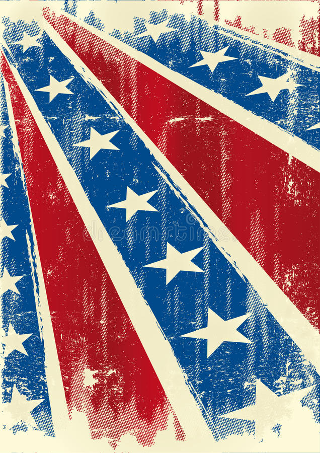 Confederate poster royalty free illustration