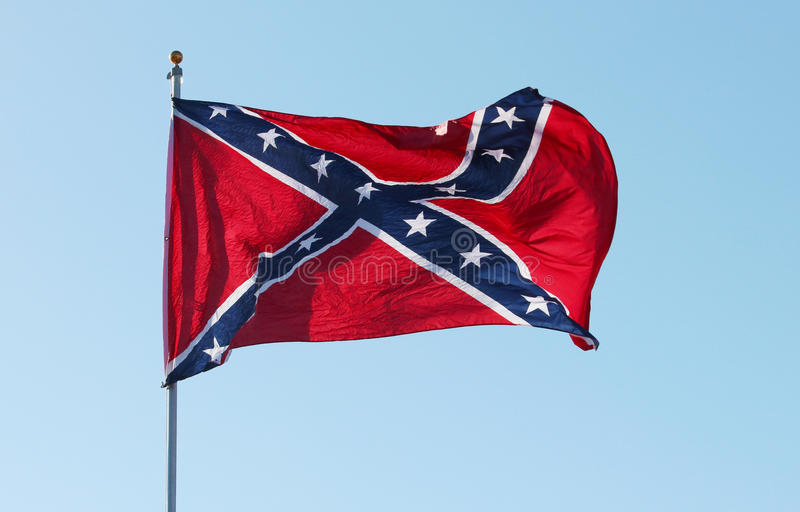 Confederate rebel flag stock images