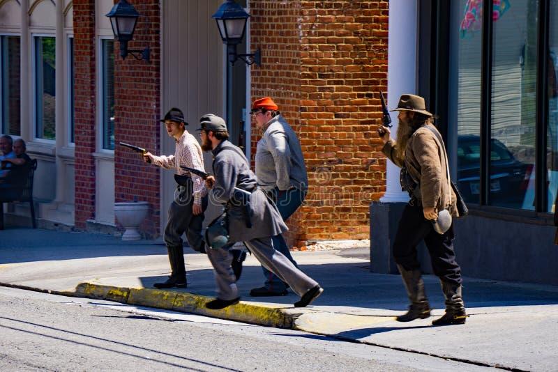 Confederate Reenactors на сражении Buchanan стоковое изображение