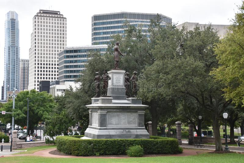 Confederate Soldiers Monument at the State Capitol grounds in Austin, Texas. USA stock photos
