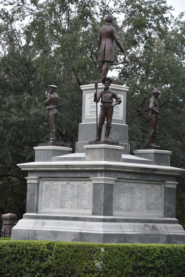 Confederate Soldiers Monument at the State Capitol grounds in Austin, Texas. USA royalty free stock image