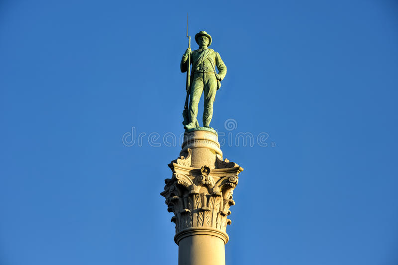 Confederate Soldiers` & Sailors` Monument stock photo