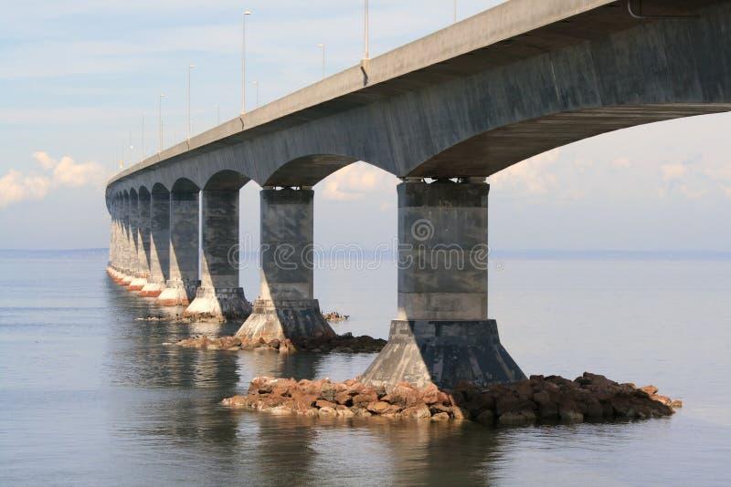 Beside the Confederation Bridge. The Confederation Bridge linking New Brunswick and Prince Edward Island. Canada stock image