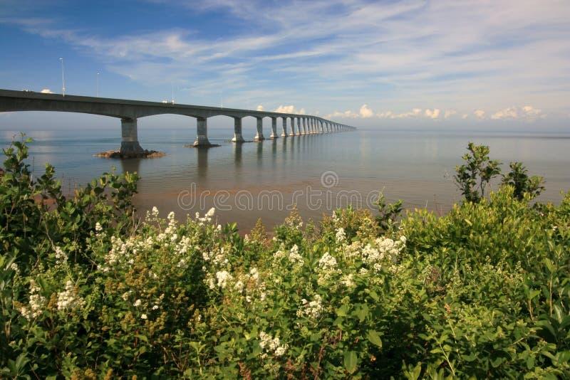 Confederation Bridge. The Confederation Bridge linking New Brunswick and Prince Edward Island. Canada royalty free stock photography