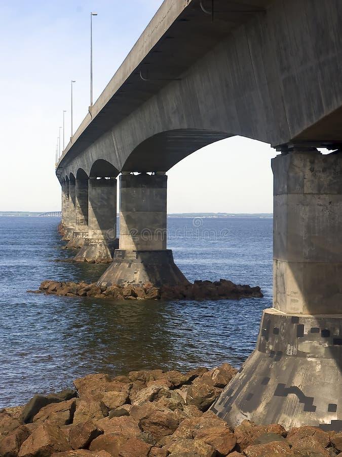 Confederation Bridge, Canada. The Confederation Bridge spanning the Northumberland Strait linking New Brunswick with Prince Edward Island, Canada stock photography