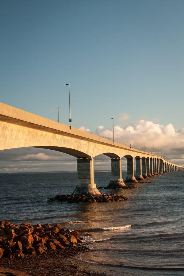 Confederation bridge. Joining New Brunswick to Prince Edward Island stock images