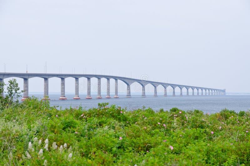 The Confederation Bridge. Linking New Brunswick and Prince Edward Island stock images