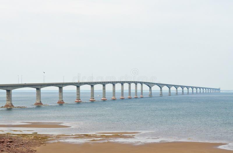 The Confederation Bridge. Linking New Brunswick and Prince Edward Island stock photo