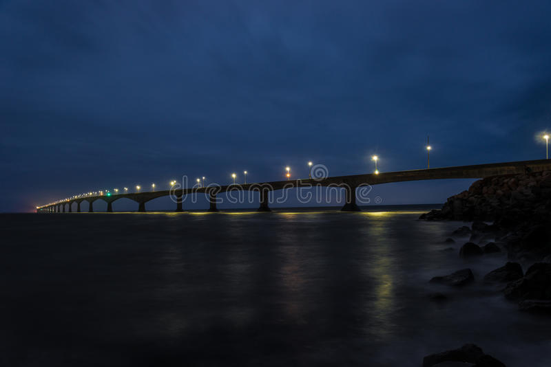 Confederation Bridge. Linking Prince Edward Island with mainland New Brunswick. As viewed from the Prince Edward Island side stock images